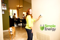 series of real customer portraits for energy conservation company